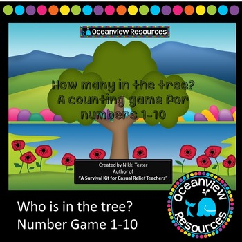 Number counting game for numbers 1-10  Who is in the Tree?