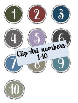 Number labels from 1-10 / numeros / numbers