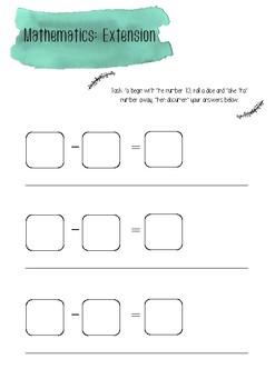 Number extension task printable