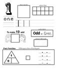 Number facts maths sheet