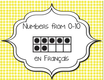 Number flash cards 0-10- French Immersion