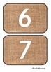 Natural Number Line Flashcards 0-10