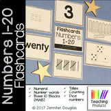 Number Flashcards 1-20 Numeral, Number, Tally, Tens Frame,