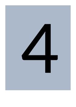 Number floor mats 1-10