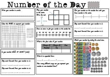 Number fluency from 100 to 1000
