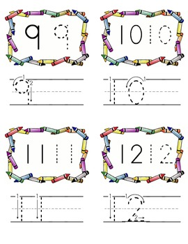 Number formation practice cards to 20