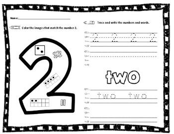 Number formation printables - Kindergarten