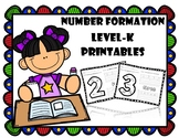 Number formation printables - Kindergarten