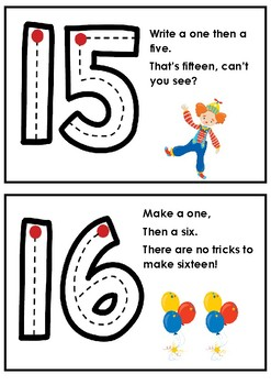 Number formation rhymes 11-20