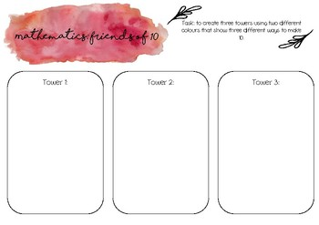 Number (friends of 10) printable template