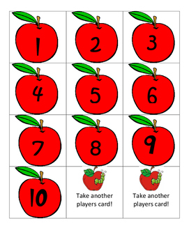 Number identification Apple game