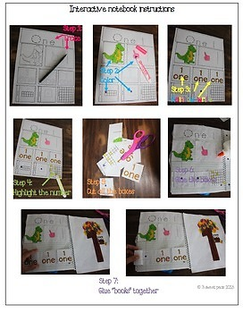 Number interactive notebook and crafts (0-10)