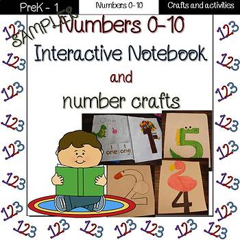 Number interactive notebook and crafts sampler