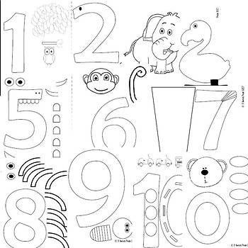 Number journal and numeral crafts