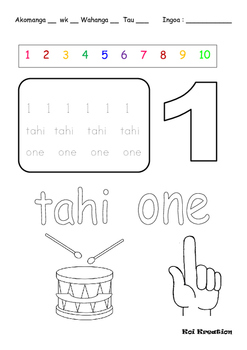 Number knowledge Maori and English