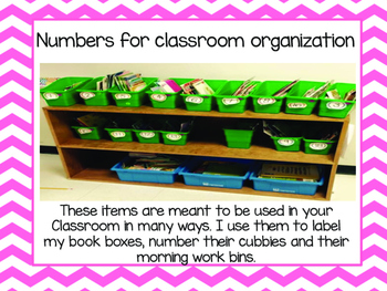 Number labels for classroom