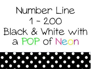 Number line 1 -200