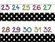 Number line Black with Polka Dots
