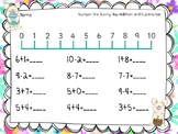 Number line Bunny Hop Addition and Subtraction