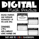 Number line Digital Math Practice for 2nd Grade