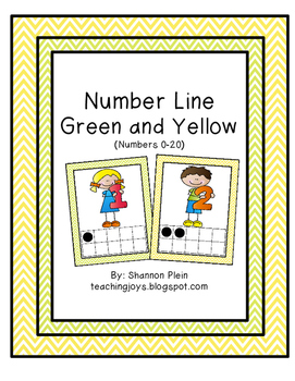 Number Posters/ Number cards 0-20 Lime green and yellow