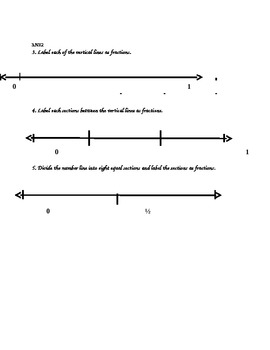 Number line Sample Activity from R & R Fraction Frenzy