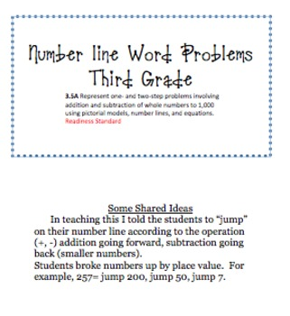 Number line Word Problems