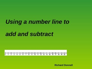 Number line adding and subtracting