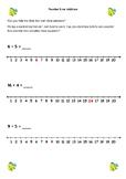 Number line addition- 1st Grade