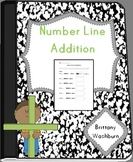 Number line addition with building blocks Math center common core