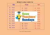 Number Line Multiplication Lesson Plans, Worksheets and More