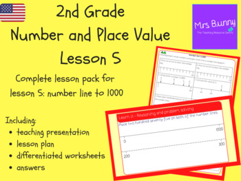Number line to 1000 lesson pack (2nd Grade Number and Place Value)