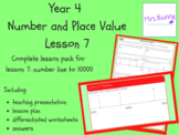 Number line to 10000 lesson pack (Year 4 Number and Place Value)