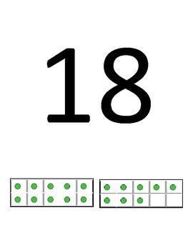 Number line with ten frames