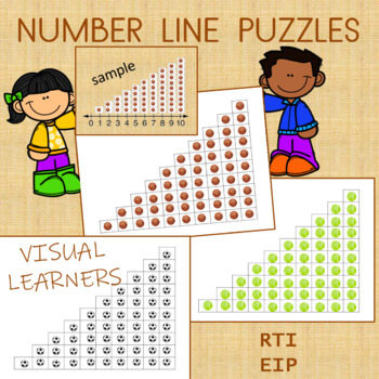 Number lines Math Center for Visual Learners (Puzzles)