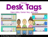 Number lines and Desk Tags