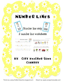 Number lines worksheets & Skip counting by 10s