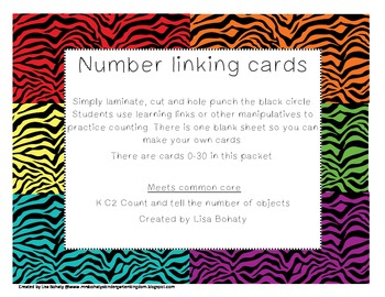 Number linking cards