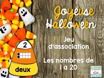 Candy corn Number match - FRENCH - nombres de 1 à 20