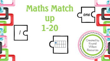 Number match puzzle 0-20