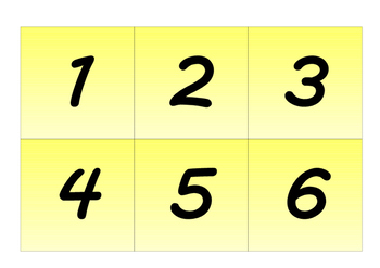 Number matching cards