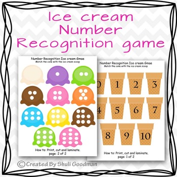 Number matching ice cream game