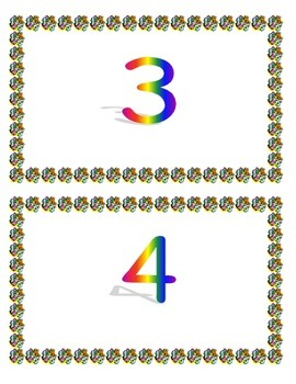 Number mats/posters 1-20