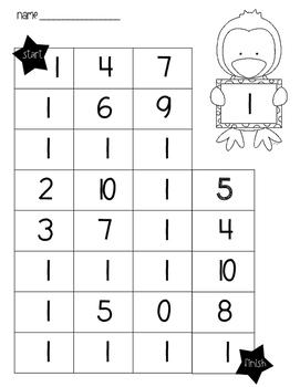 Number mazes 1-20
