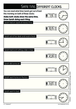 Number, measurement, time and money.