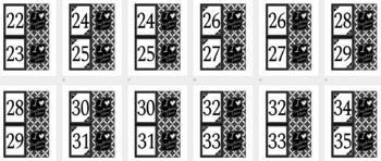 Number memory cards - game