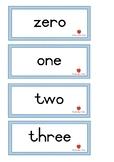 Number names (1-20; tens)
