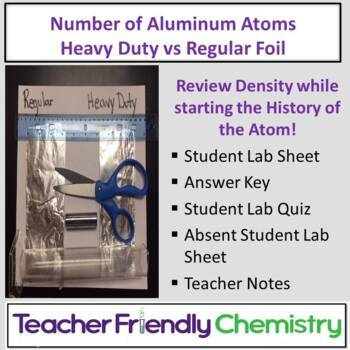 Chemistry Lab: Number of Aluminum Atoms Heavy Duty vs Reg Foil