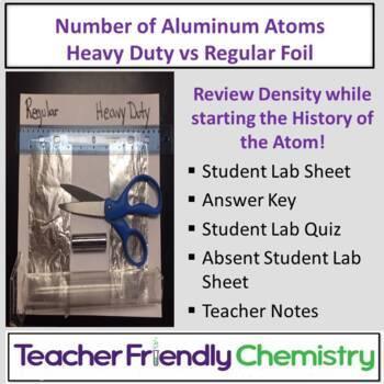 Chemistry Lab: Number of Aluminum Atoms Heavy Duty vs Reg Foil