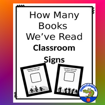 Number of Books Read Signs